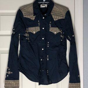 Navy Denim & Supply Embellished shirt